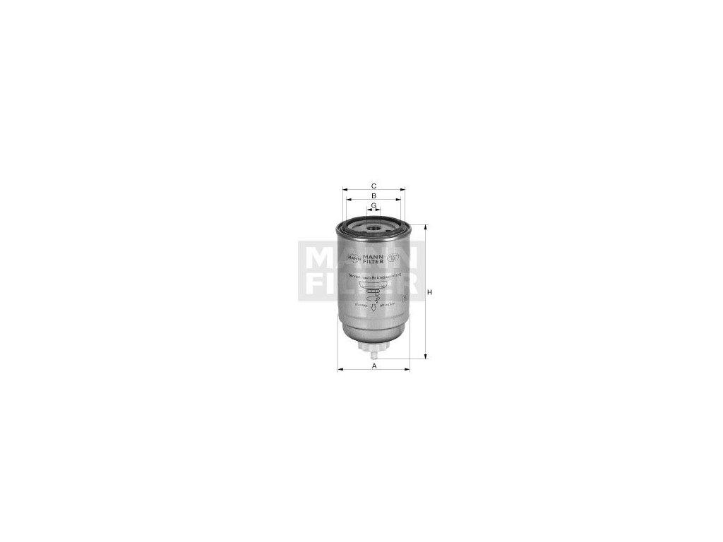 Palivový filtr MANN-FILTER WK 9190 x