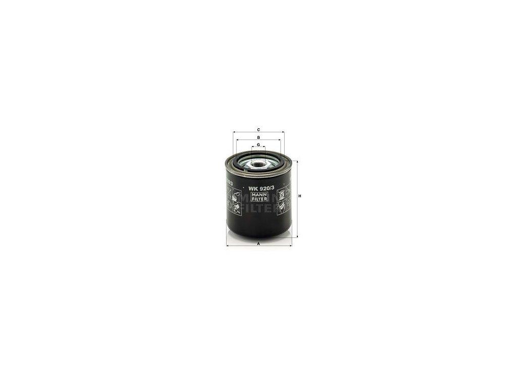 Palivový filtr MANN-FILTER WK 920/3
