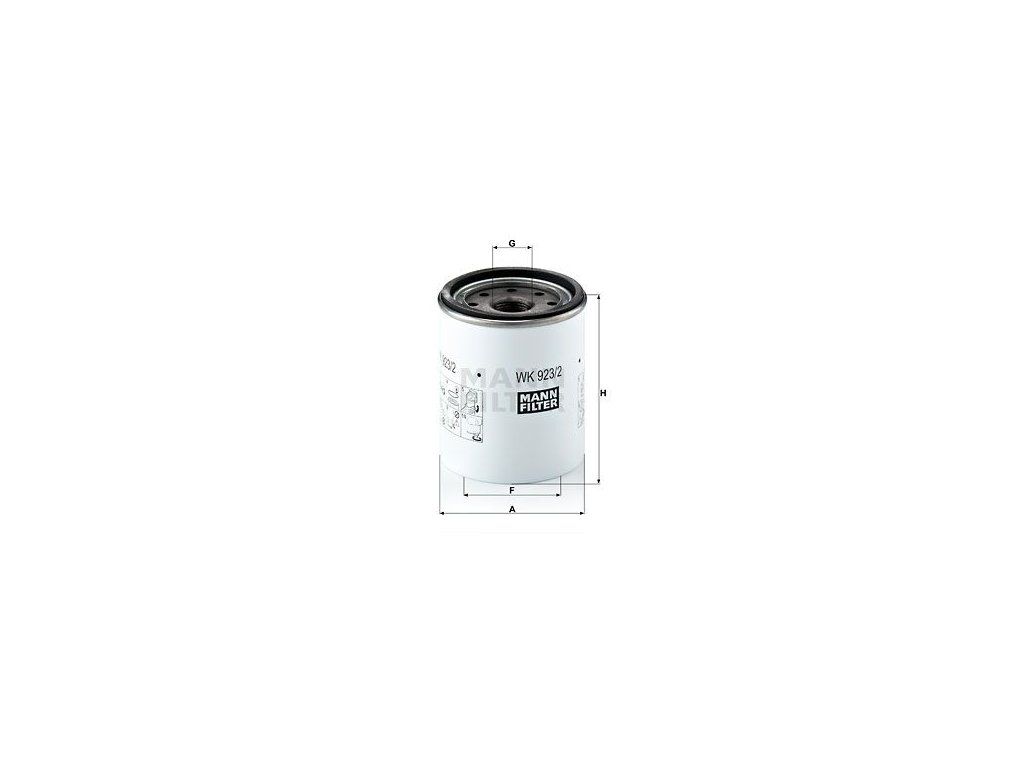 Palivový filtr MANN-FILTER WK 923/2 x