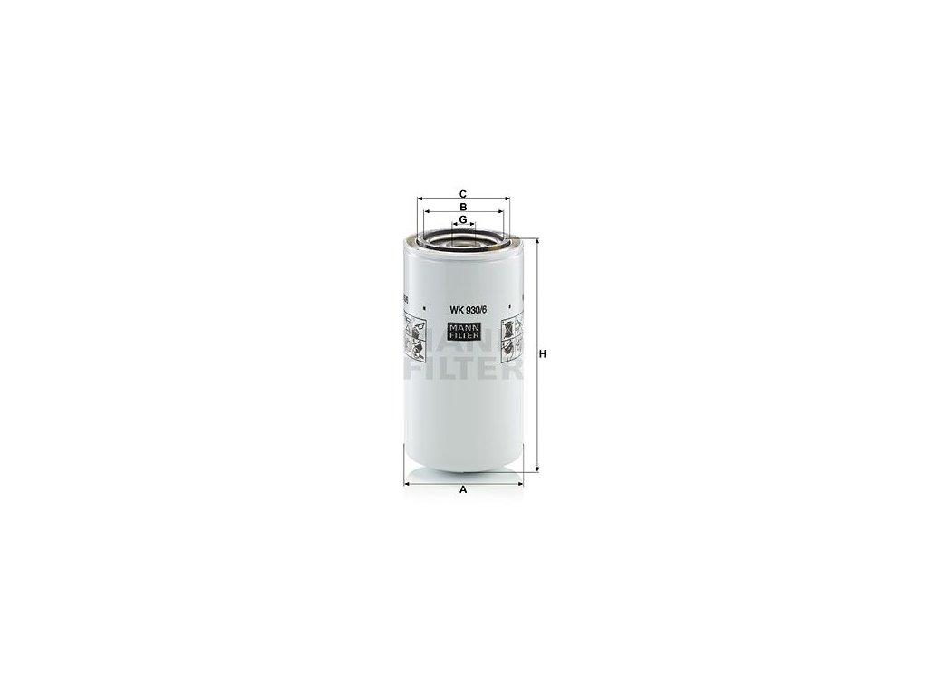 Palivový filtr MANN-FILTER WK 930/6 x