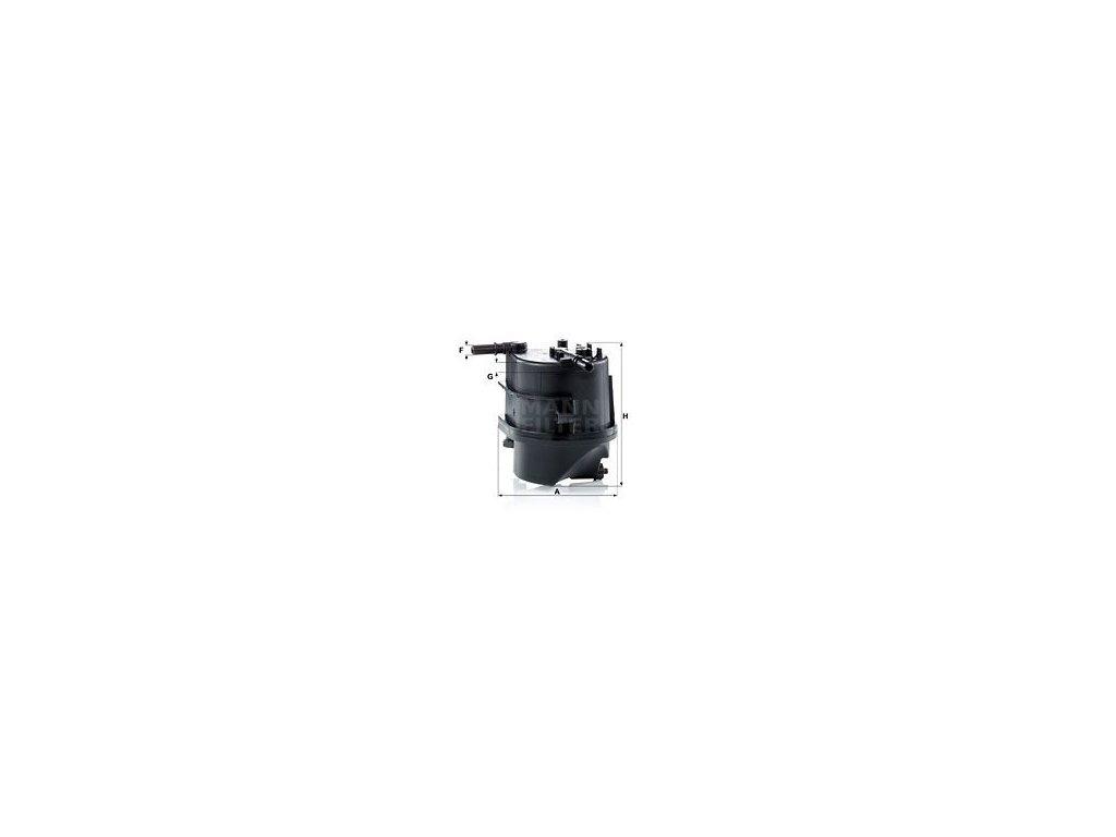 Palivový filtr MANN-FILTER WK 939