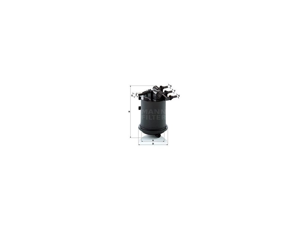 Palivový filtr MANN-FILTER WK 939/1