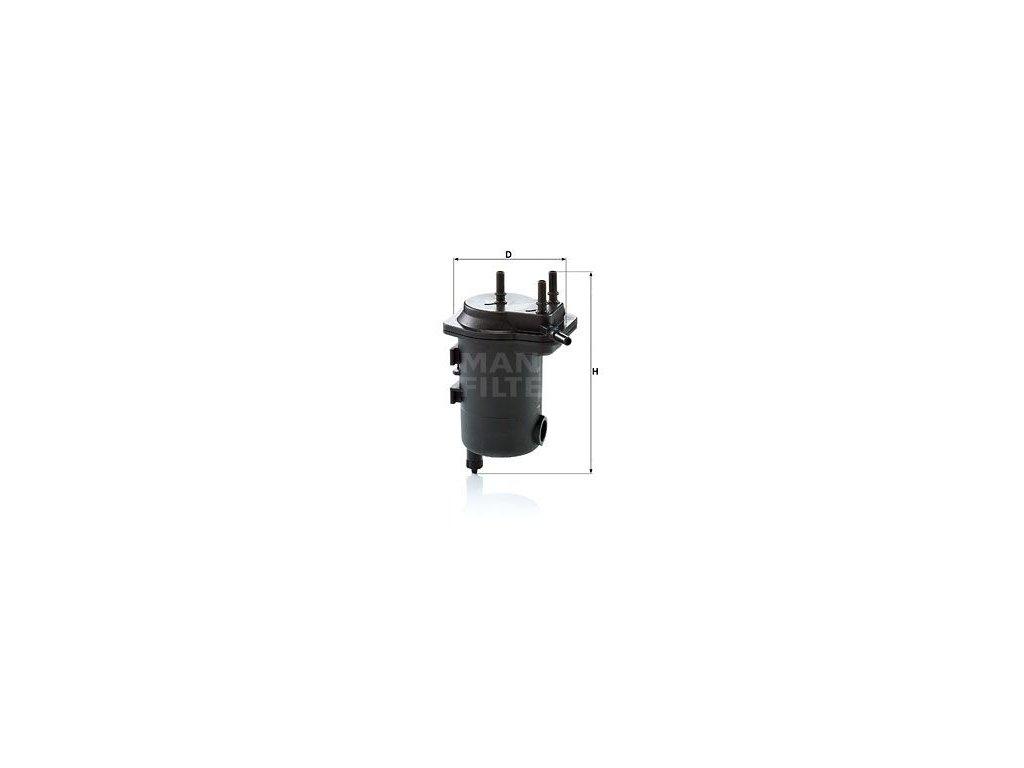 Palivový filtr MANN-FILTER WK 939/10 x