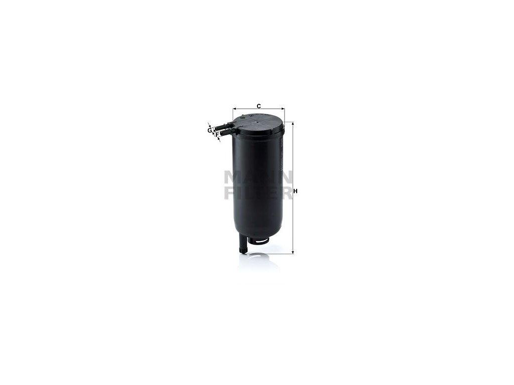 Palivový filtr MANN-FILTER WK 939/14 x