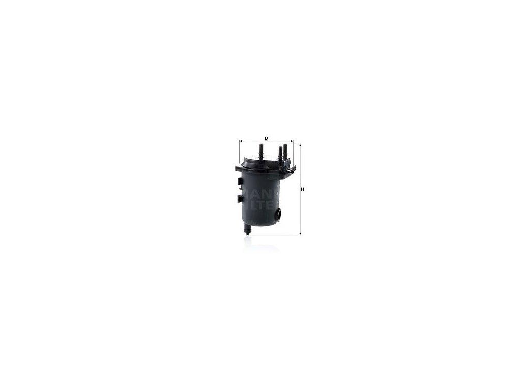 Palivový filtr MANN-FILTER WK 939/17 x
