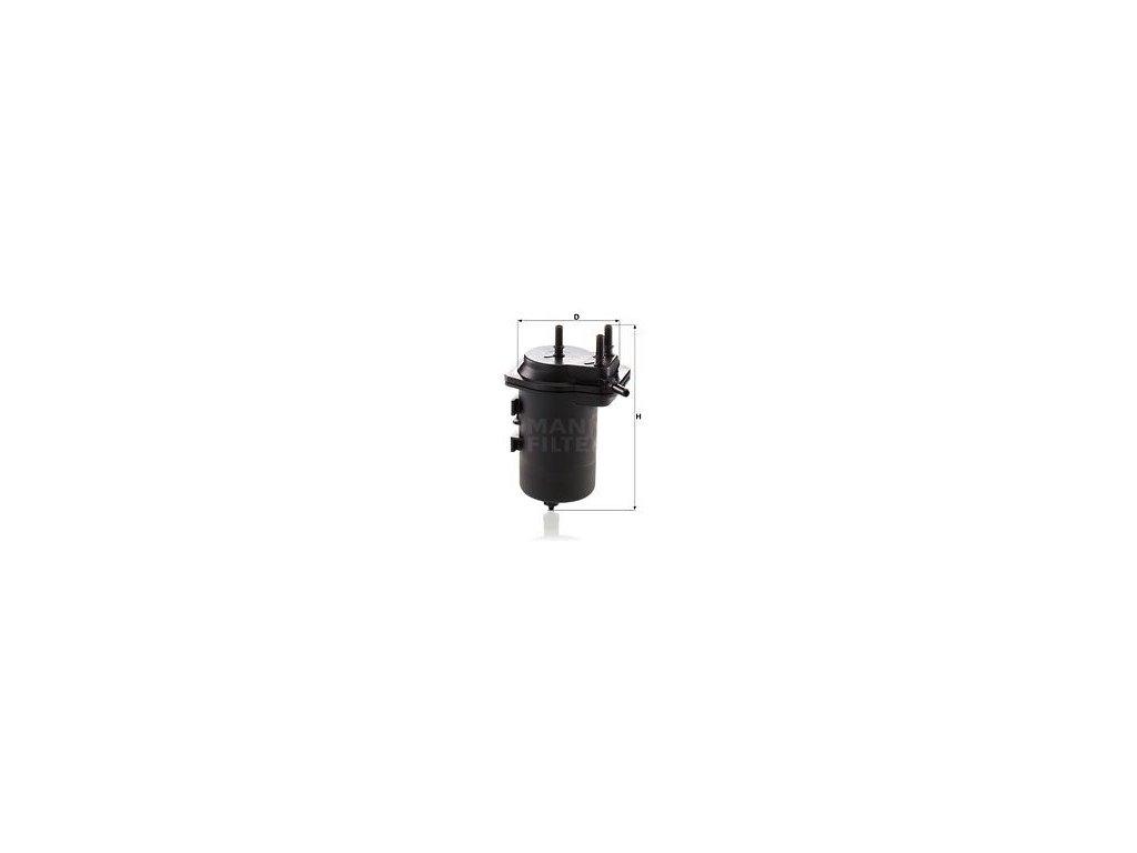 Palivový filtr MANN-FILTER WK 939/7