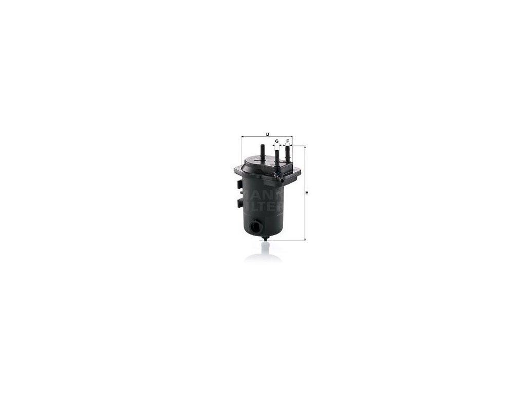Palivový filtr MANN-FILTER WK 939/9 x