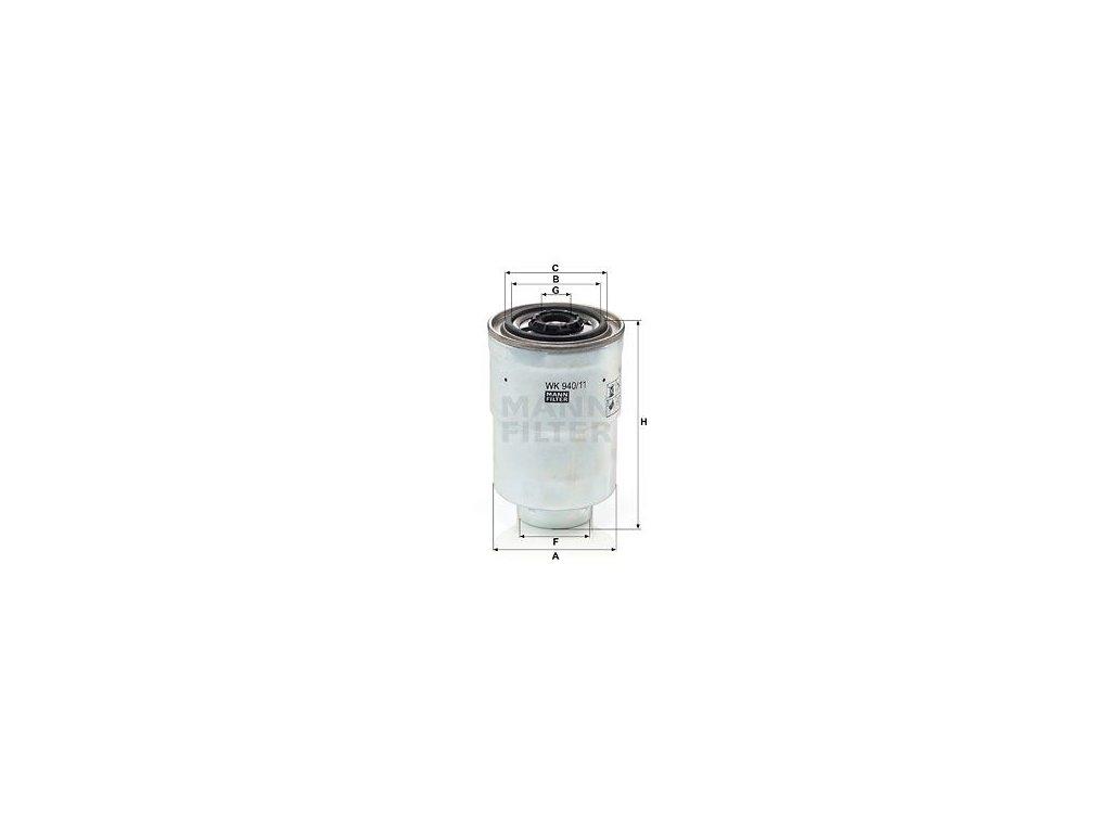 Palivový filtr MANN-FILTER WK 940/11 x
