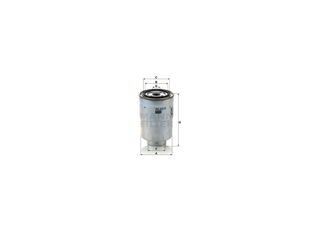 Palivový filtr MANN-FILTER WK 940/16 x