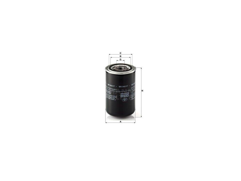 Palivový filtr MANN-FILTER WK 940/17
