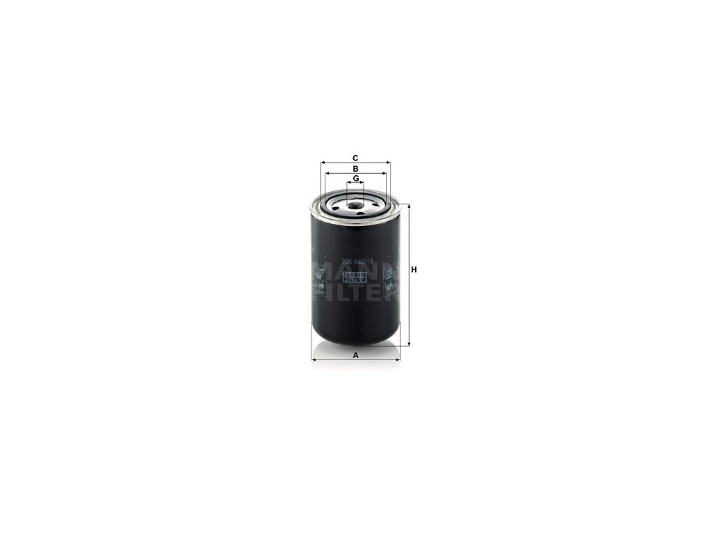 Palivový filtr MANN-FILTER WK 940/19