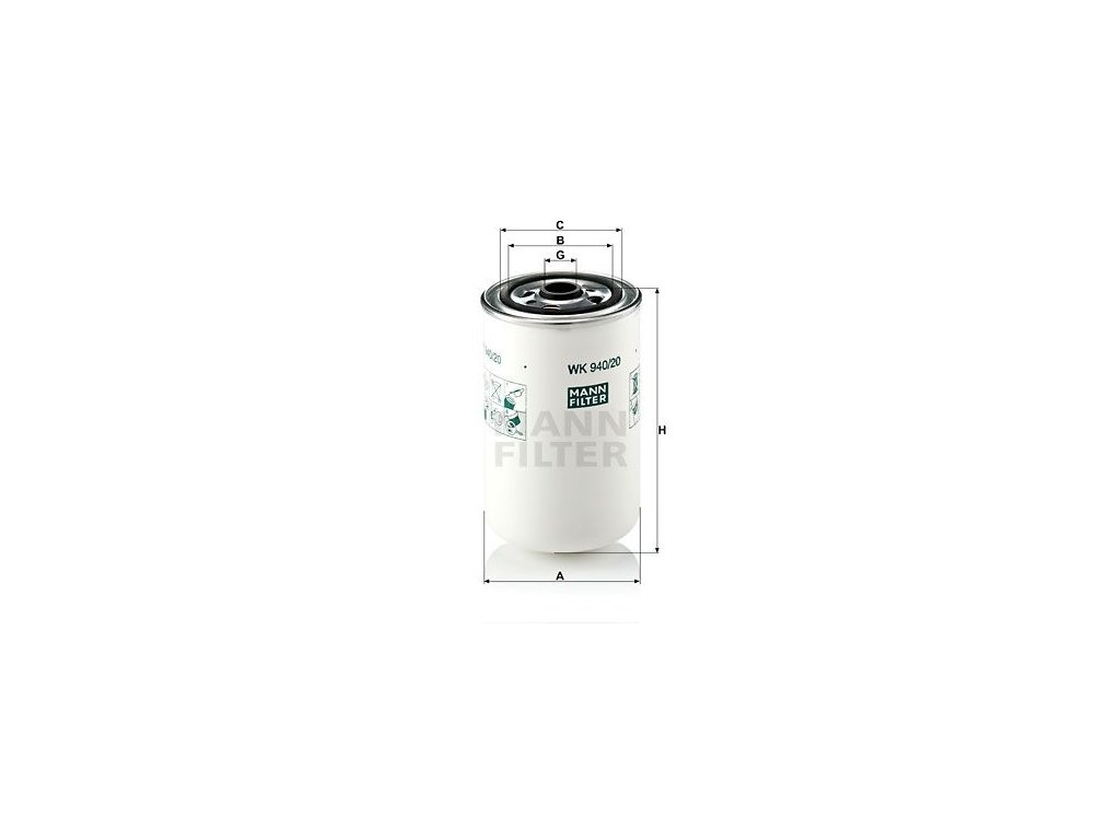 Palivový filtr MANN-FILTER WK 940/20