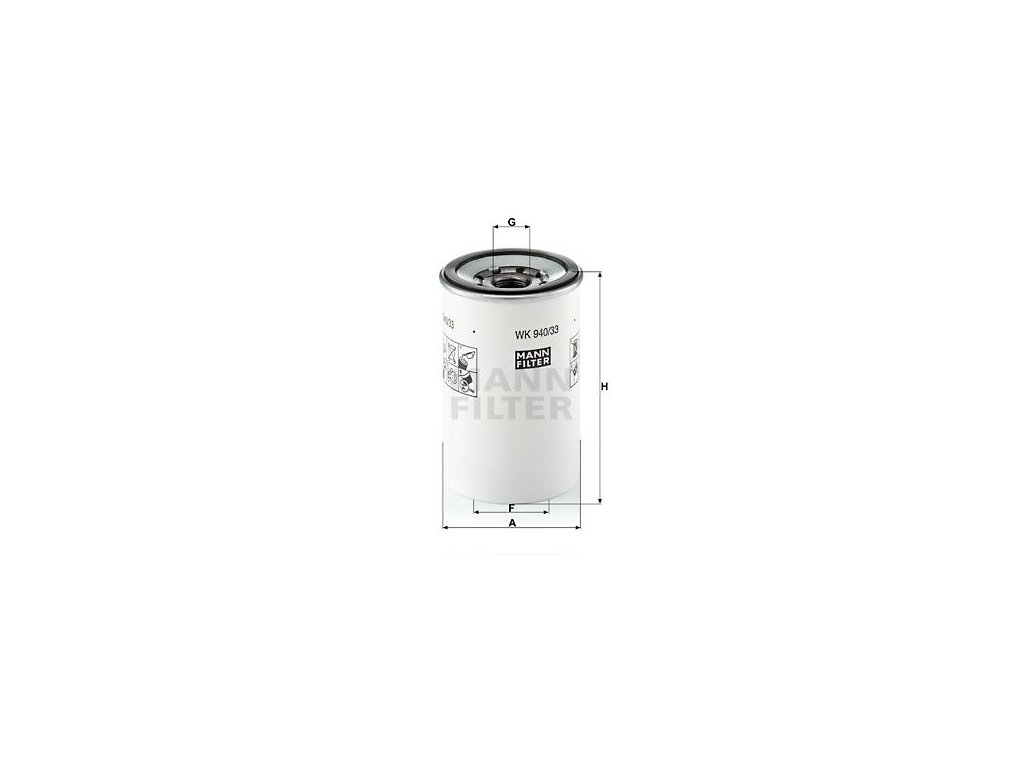 Palivový filtr MANN-FILTER WK 940/33 x