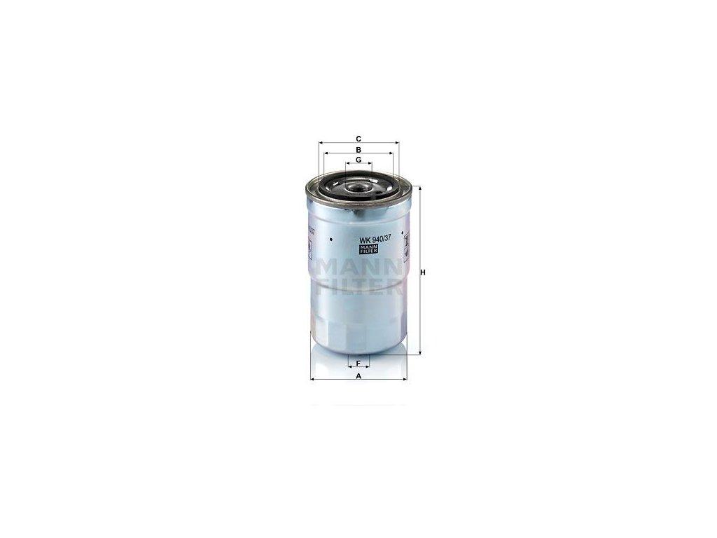 Palivový filtr MANN-FILTER WK 940/37 x