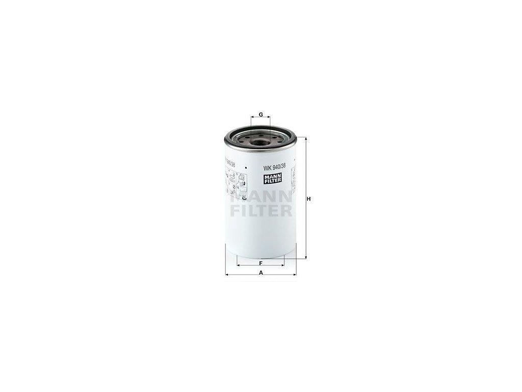 Palivový filtr MANN-FILTER WK 940/38 x