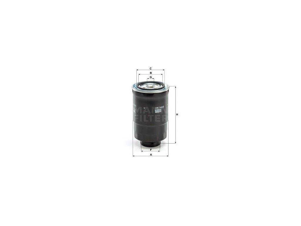 Palivový filtr MANN-FILTER WK 940/6 x