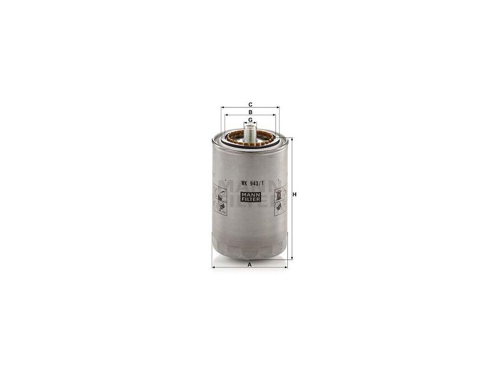 Palivový filtr MANN-FILTER WK 943/1
