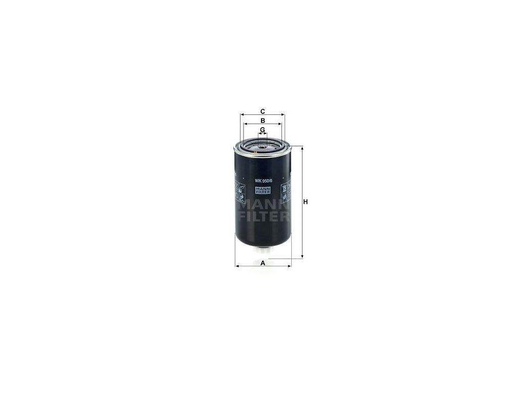 Palivový filtr MANN-FILTER WK 950/6