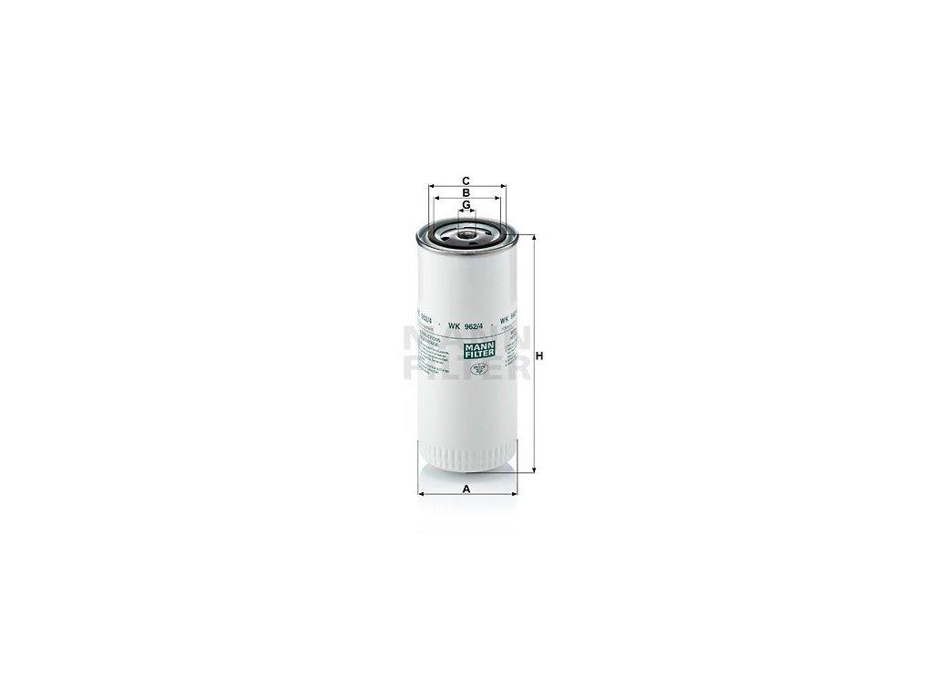 Palivový filtr MANN-FILTER WK 962/4