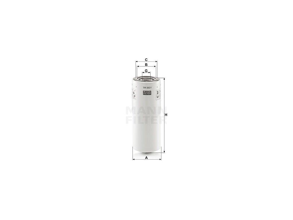 Palivový filtr MANN-FILTER WK 980/1