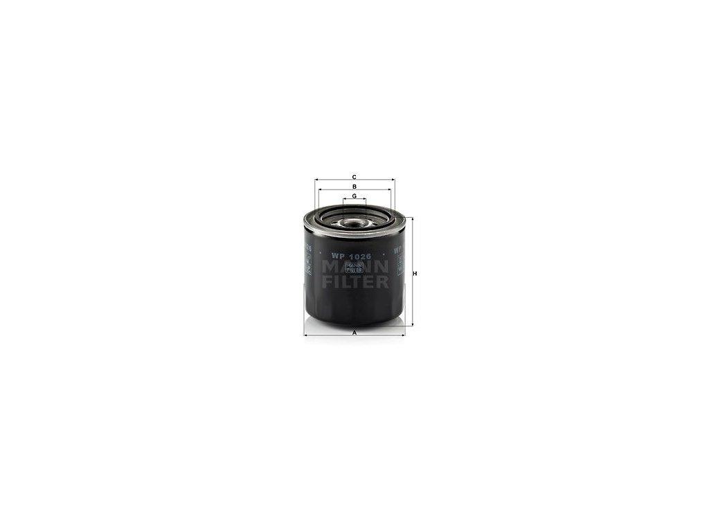 Olejový filtr MANN-FILTER WP 1026