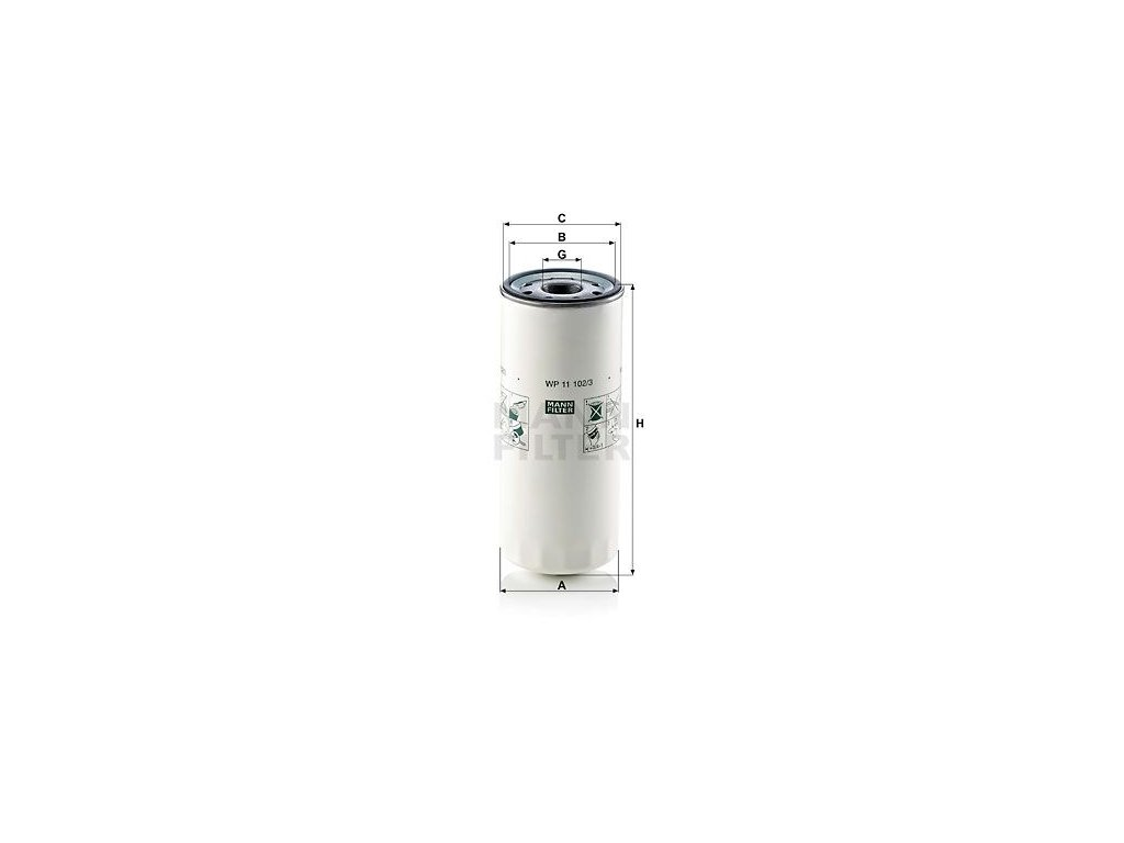 Olejový filtr MANN-FILTER WP 11 102/3