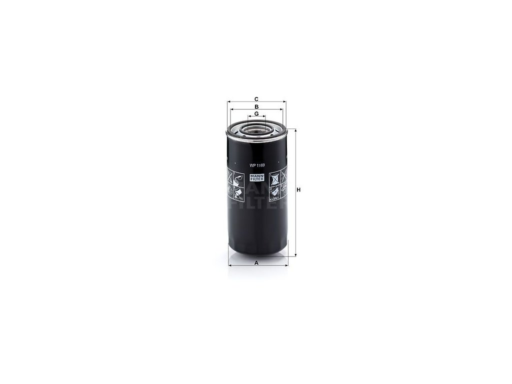Olejový filtr MANN-FILTER WP 1169