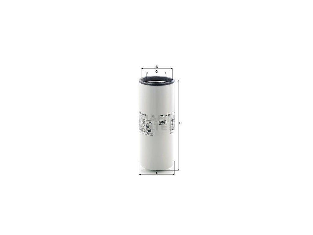 Olejový filtr MANN-FILTER WP 12 120/1
