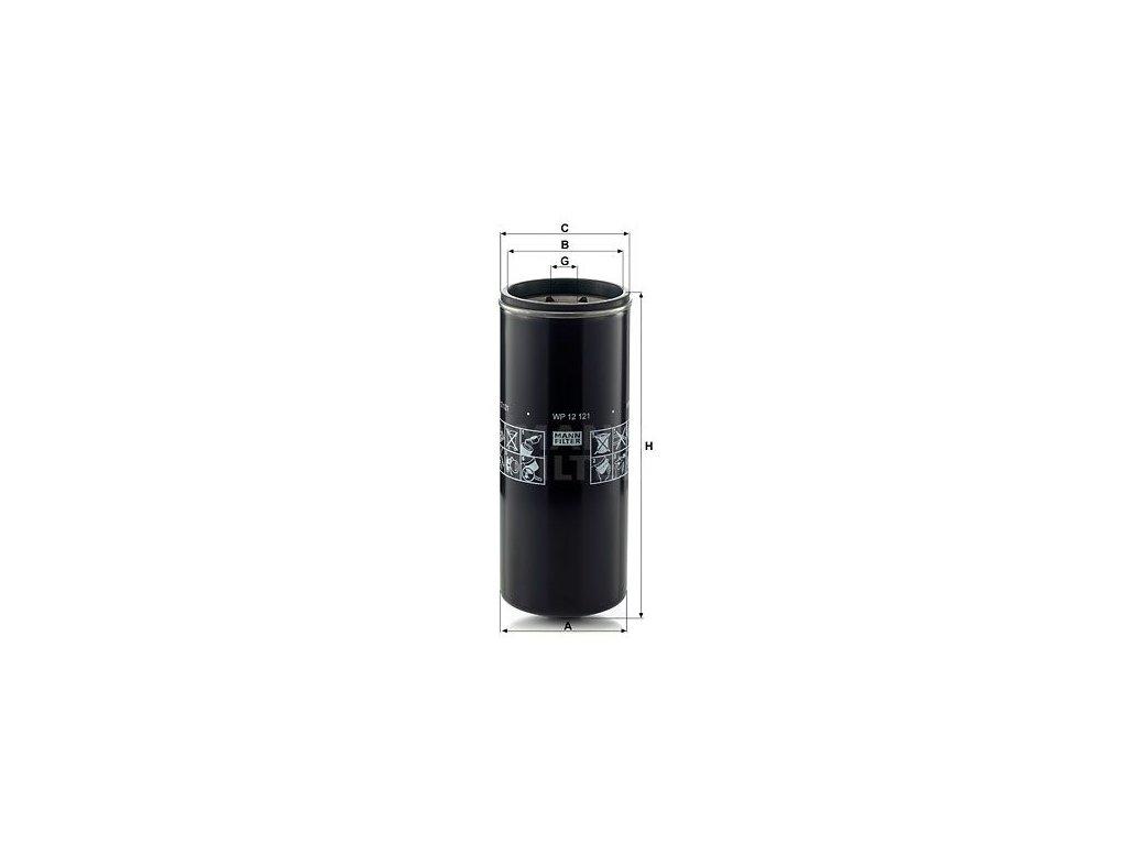 Olejový filtr MANN-FILTER WP 12 121