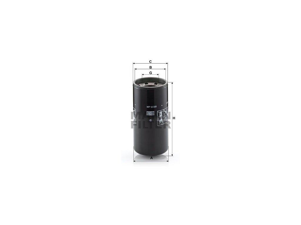 Olejový filtr MANN-FILTER WP 12 308
