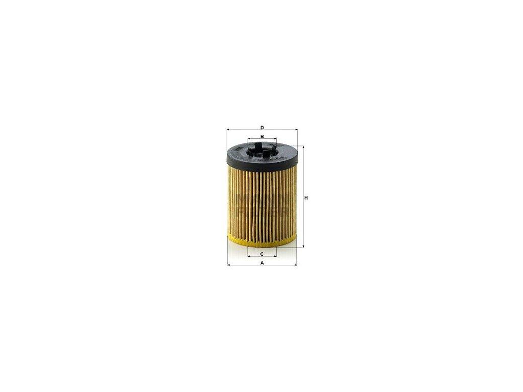 Olejový filtr MANN-FILTER HU 611/1 x