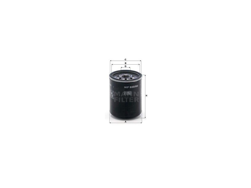 Olejový filtr MANN-FILTER WP 920/80