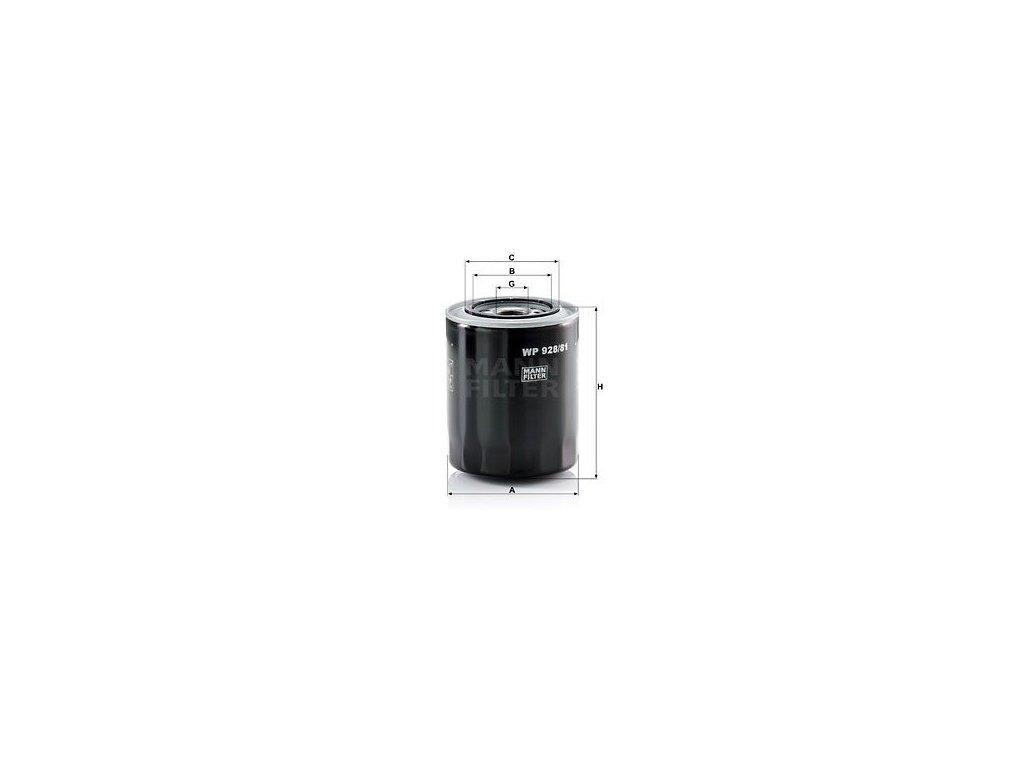 Olejový filtr MANN-FILTER WP 928/81