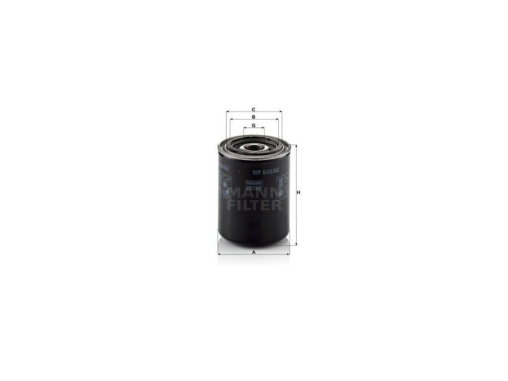 Olejový filtr MANN-FILTER WP 928/82