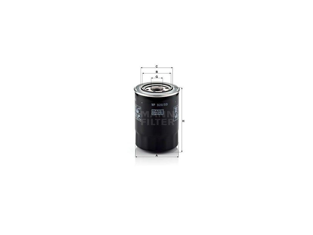 Olejový filtr MANN-FILTER WP 928/83