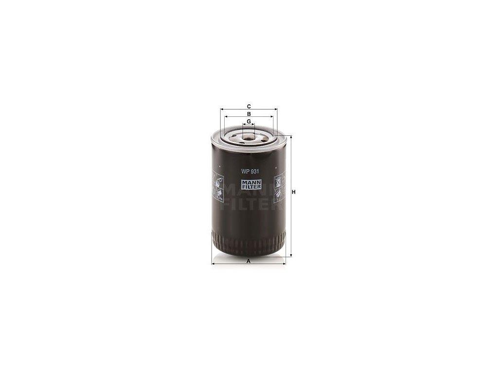 Olejový filtr MANN-FILTER WP 931