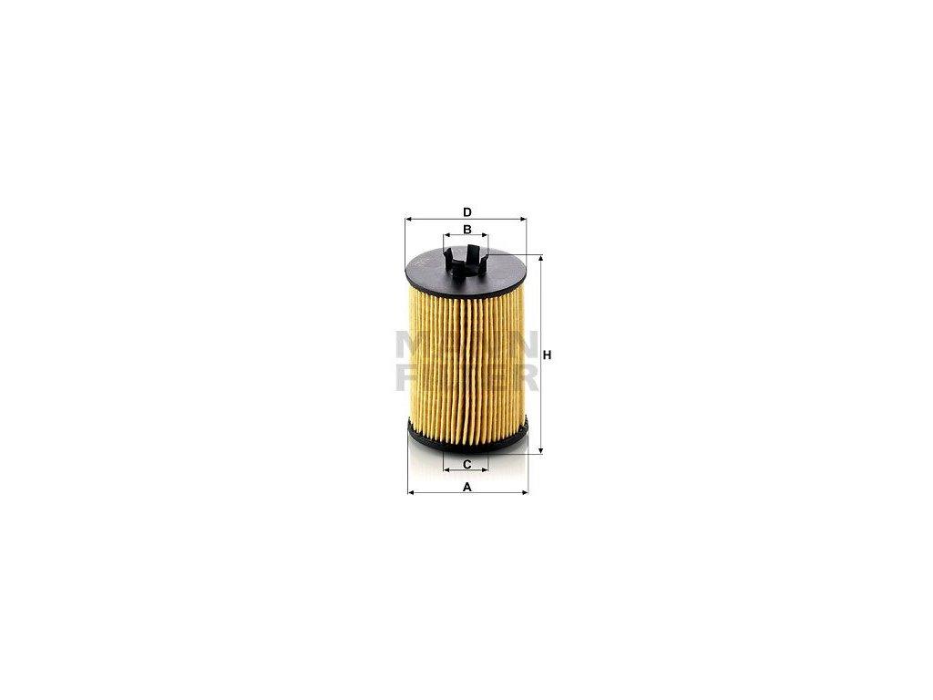 Olejový filtr MANN-FILTER HU 612/1 x