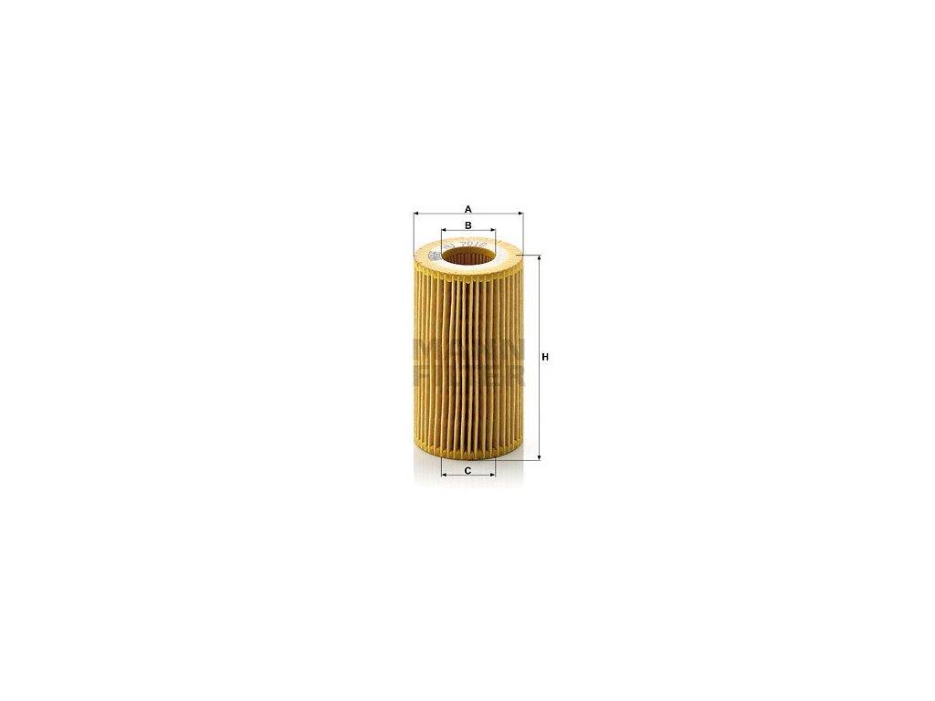 Olejový filtr MANN-FILTER HU 7010 z