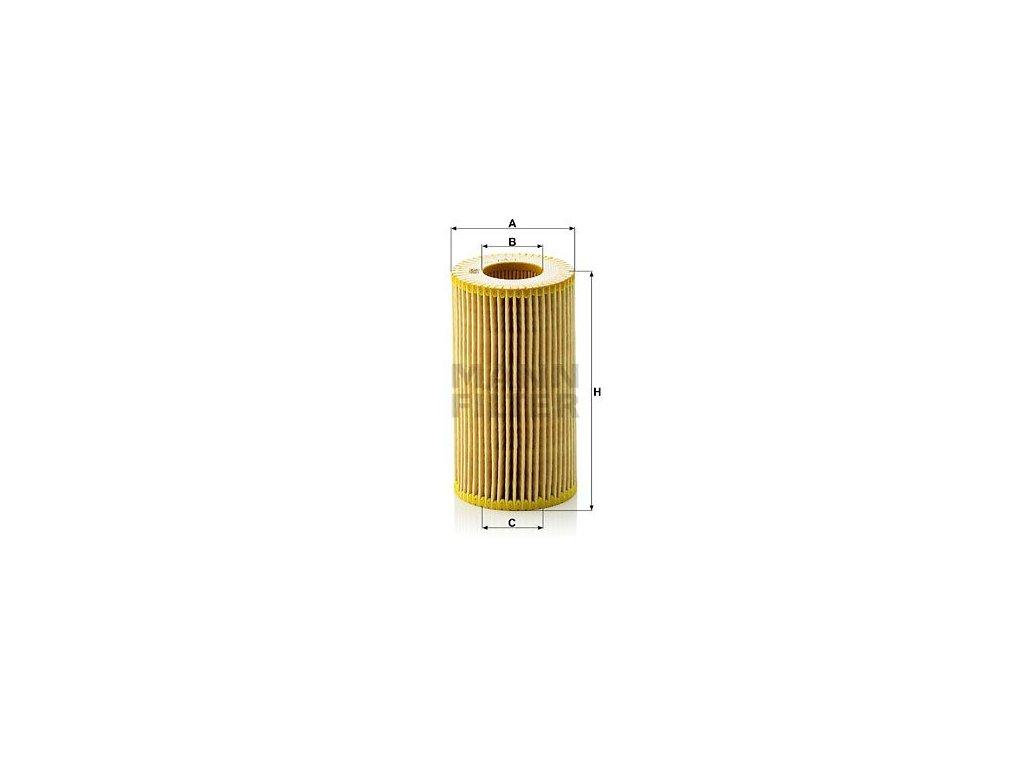 Olejový filtr MANN-FILTER HU 718/1 n