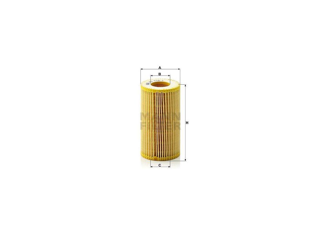 Olejový filtr MANN-FILTER HU 718/1 z