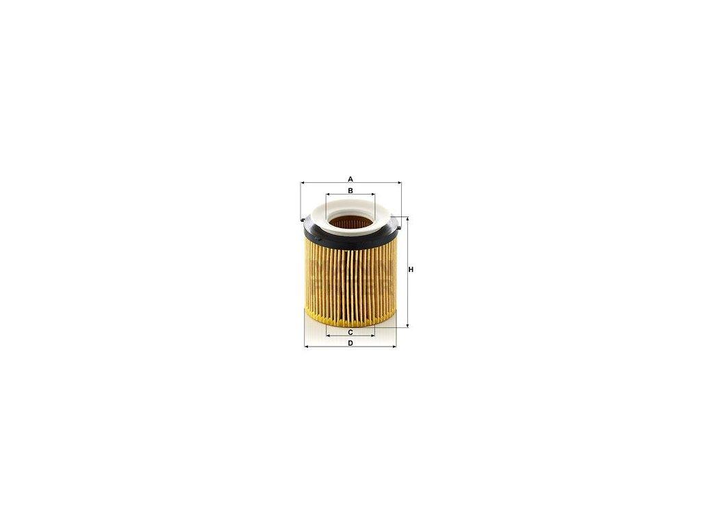 Olejový filtr MANN-FILTER HU 8002 x KIT