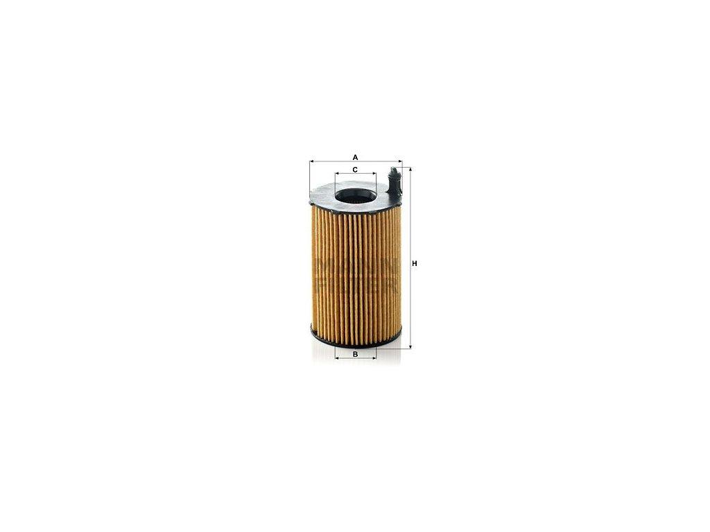Olejový filtr MANN-FILTER HU 8005 z