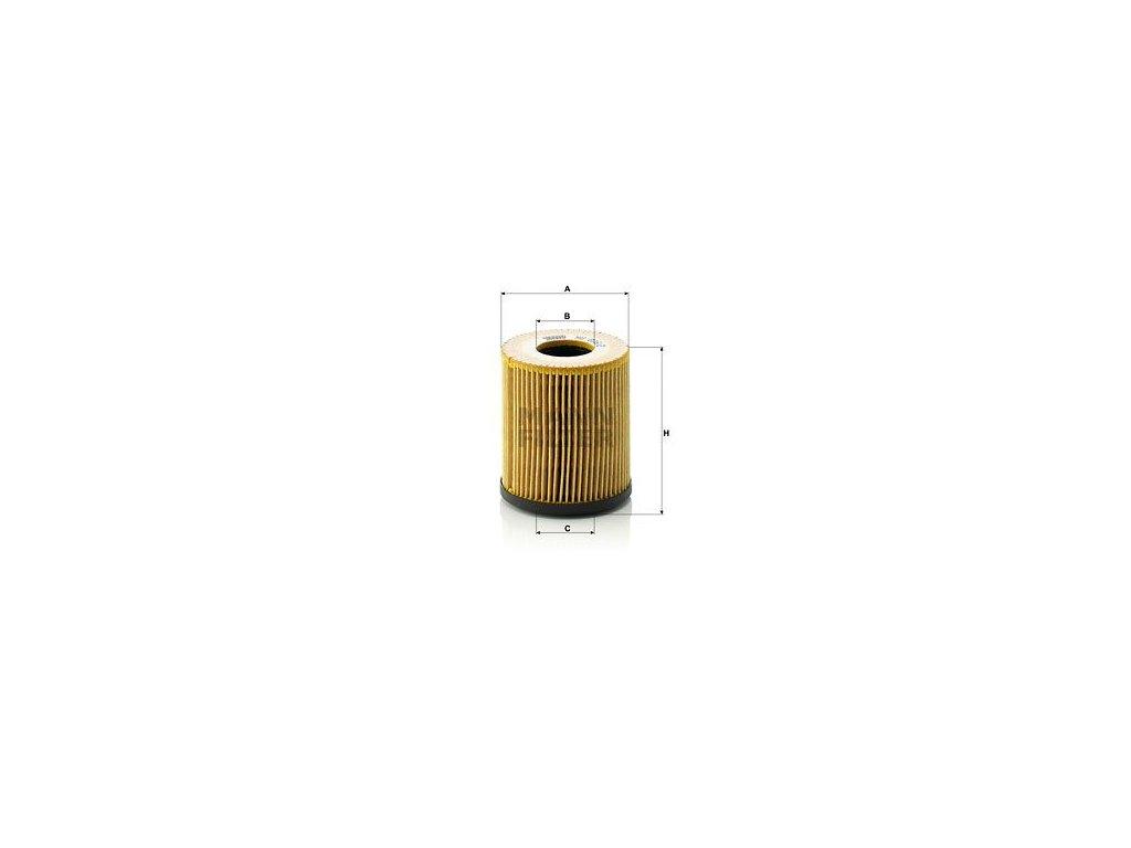 Olejový filtr MANN-FILTER HU 816/2 x