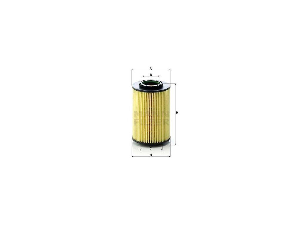 Olejový filtr MANN-FILTER HU 822/5 x
