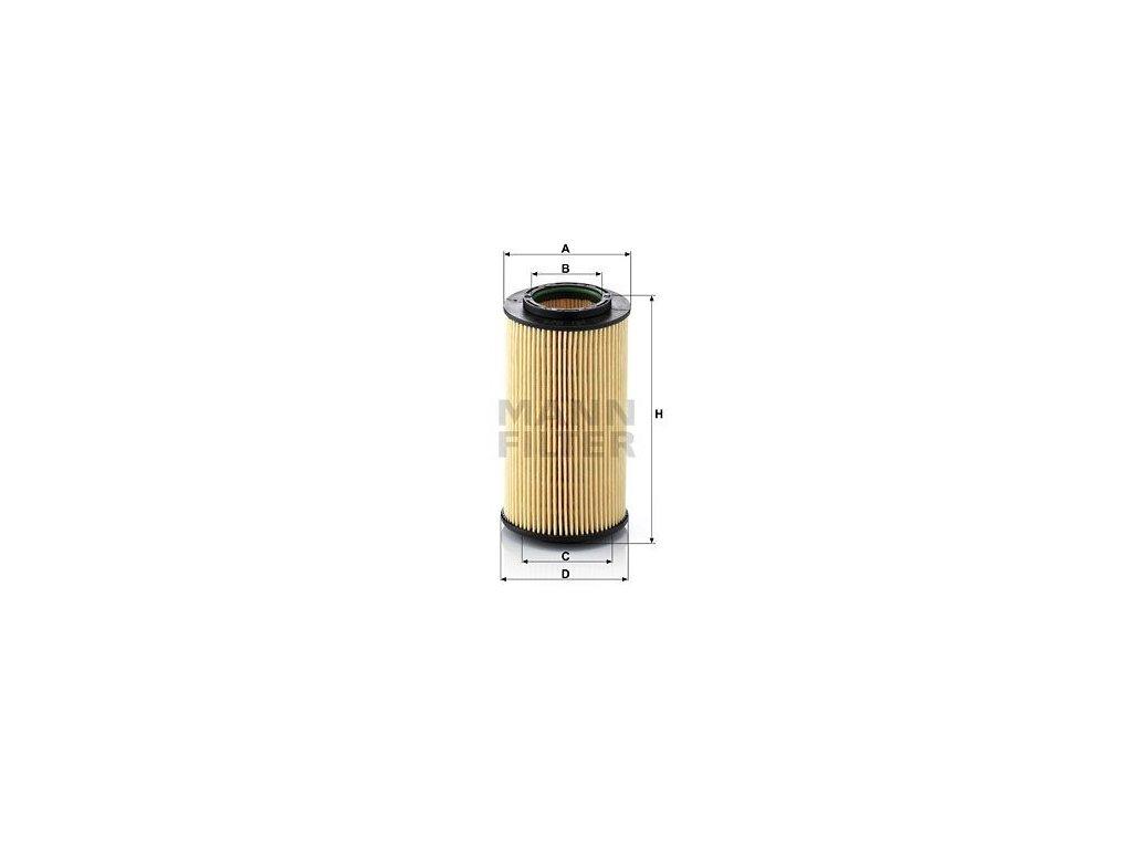 Olejový filtr MANN-FILTER HU 824 x