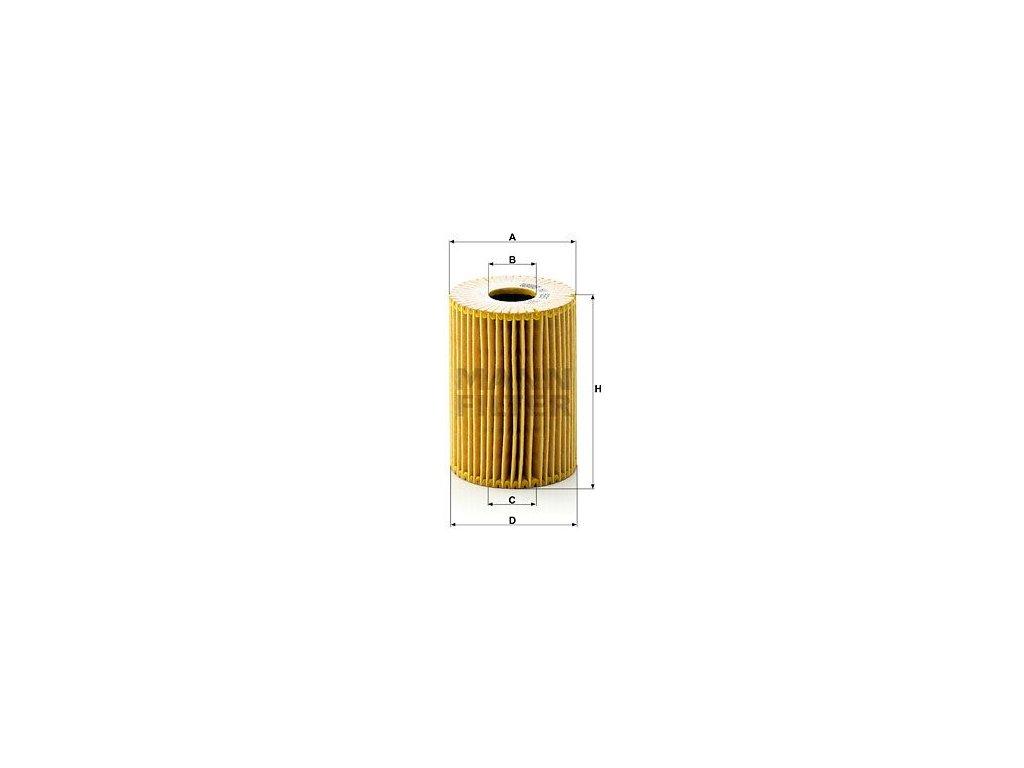 Olejový filtr MANN-FILTER HU 825 x