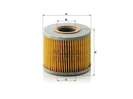 Olejový filtr MANN-FILTER H 1018/2 n