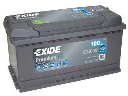 Exide Premium 12V 100Ah 900A EA1000  + originální distribuce Exide