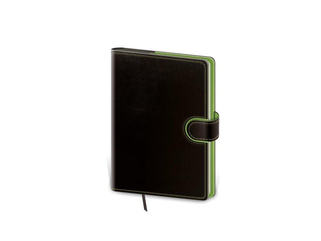 Diár Flip týždenný vreckový 9x14cm - čierno/zelený 2022
