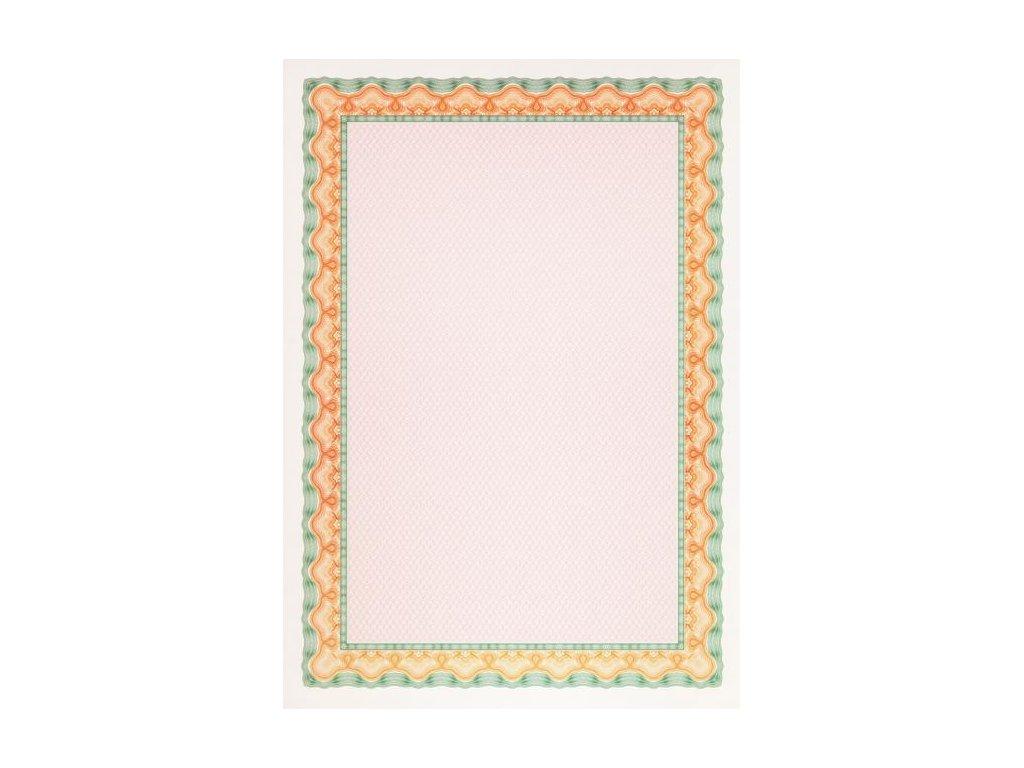 Certifikačný papier APLI A4 oranžovo-zelený 115g 25 hárkov